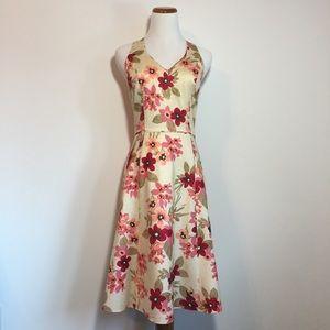 LOFT Floral Sleeveless A-Line Dress